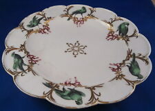 Rare 18thC Chelsea Soft Paste Porcelain Green Bird s Plate English England