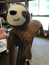 Kids Infants Childs Sloth Crib Throw Lovey Handmade Crochet