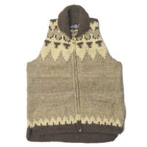 South2 West8 x CANADIAN SWEATER Canada Cowichan knit vest beige wool S2W8 tops