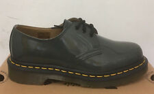 DR. MARTENS 1461 GREY PATENT LAMPER   LEATHER  SHOES SIZE UK 7