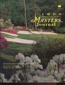 Program Golf The Masters 1996 Tiger Woods PGA Major Championship