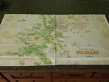 Colorado Road Trip Panel 23x42 Quilting Treasure Map Rocky Mountain Quilt Fever
