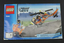 Lego City 7686 Helicoper Transporter Manual Build Instructions Only USED L1149D