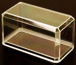 6 PACK CRYSTAL CLEAR DISPLAY CASES plastic 1/64 scale hot wheels matchbox cars