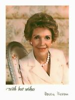 NANCY REAGAN AUTOGRAPHED 8x10 RP PHOTO GREAT FIRST LADY