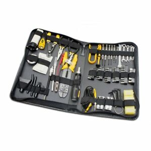 Computer Technician Tool Kit 100 Piece Repair Wiring Cleaning Test Demagnetized