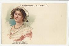 cartolina ricordo la brianzola costume di lombardia formato piccolo