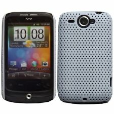 CLEARANCE White Plastic Perforated Mesh Case for HTC Wildfire