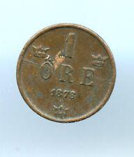 Sweden ~ 1878 ~ 1 Ore ~ Xf ~ Obv Planchet & Die Crack Errors