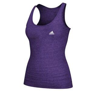 Adidas Women's Adi EQT Performance Logo Purple Tri-Blend Tank Top A88085