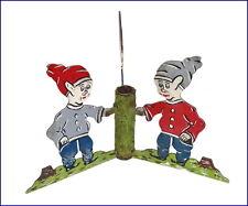 Vintage Metal Christmas Tree stand - 3 Dwarfs - ca. 1920 (# 6013)