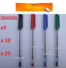 Stylos et crayons de bureau rouge