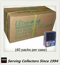 "Ultra Pro 3""x4"" Regular NEW Top Loaders Pack Of 25 x 40 packs-Best for AFL cards"