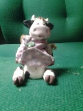 Russ Cow Figurine with Dress