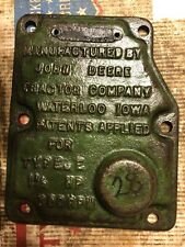 John Deere 1-1/2 Hp E Hit Miss Engine Governor Cover