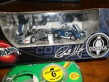 HOT WHEELS 100% 2 CAR SET CARROLL SHELBY COBRA