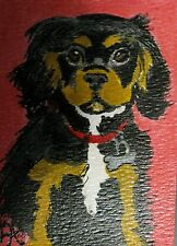 """A190 Acrylic Aceo Painting By Ljh """"Charlie"""" King Charles Cocker Spaniel Dog"""