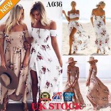 Vestidos de mujer de playa sin marca de poliéster