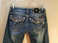 "Miss me boot cut denim jeansMiss me boot cut denim jeans. Size 27X30.5 Rise  7"""