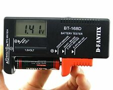 D-FantiX Digital Battery Tester Checker for Aa Aaa C D 9V 1.5V Button Cell Small