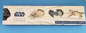 Williams Sonoma Star Wars Set Of 4 Cookie Cutters Millennium X-Wing Fighter. New