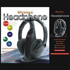 High Quality 5 in 1 Wireless Headphone for MP3 MP4 PC TV CD Player FM Radio T3Z5