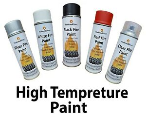 Black/White/Silver/Clear/Red Heat resistant Paint Fireplaces/Fire Pits/BBQs