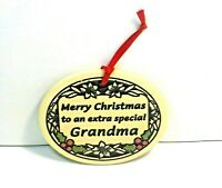 Trinity Pottery Wall Plaque  Ornament Merry Christmas Grandma 22314 Vintage