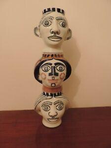 3 CABEZAS porcelana de SARGADELOS Galicia  EXCELENTE ESTADO