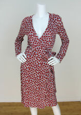 Cacharel 38/8 Butterfly Print Viscose/Cotton Long Sleeve Wrap Dress