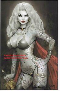 LADY DEATH SEXY INKED ART PRINT ~  NATHAN SZERDY -  BRIAN PULIDO SIGNED 11x17