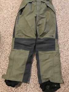 THE NORTH FACE MENS GORETEX SNOW SKI PANTS SNOWBOARD GRN  SZ M MEDIUM