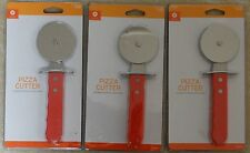 New! Lot of 3 Pizza Cutter Durable Stainless Steel Blade Red Handle