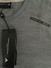 Porsche Design Sport Tech Wool Tee sz S New+Tags Spa Club Allday T-Shirt Grey