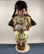"Danbury Artaffects by Perillo Native American ""Gentle Shepherd"" Doll"