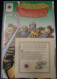 ARMORINES 1 VALIANT SIGNATURE SERIES COMIC GONZALES CALAFIORE RAMOS 1994 VF/NM