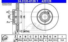 ATE Juego de 2 discos freno Antes 256mm ventilado para SEAT PEUGEOT