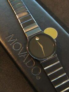 Movado Museum Men's Watch 0602644 Vintage 1997 Black 84.C6.880.2A SERVICED !
