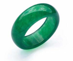 Real Jade Ring Light Green or Dark Green Jade