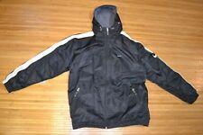 MENS Nike Ski Jacket Coat Black WHITE Snowboard Winter Size XL Fleece Lined