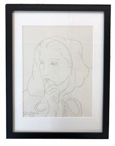 Portrait de femme en capuchon,  - Matisse - Print *Framed*