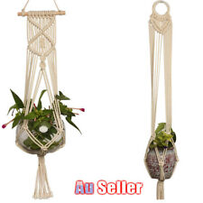Pot Holder Macrame Plant Hanger Hanging Planter Basket Hemp Rope Braided 1PCS
