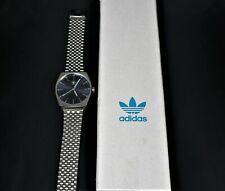 Armbanduhr Adidas Herrenuhr Analog Quarz Edelstahl Armband Faltschließe silber