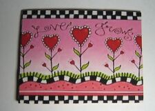 "Dollhouse Miniature ""Love Grows""  Welcome Mat or Rug - Great for Valentines Day!"
