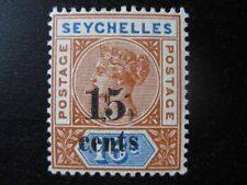 SEYCHELLES BRITISH COLONY Sc. #24 mint overprint stamp! SCV $15.00