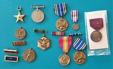 lot of Collectible Us & other military Medals (b) .