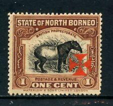 1916 - NORD BORNEO - 1c. BRUNO CON CROCE DI MALTA - LINGUELLATO - LOTTO/27013