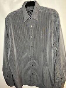 "Debenhams Mens Thomas Nash Blue Striped Formal Shirt Collar 16"" Long Sleeve VTG"