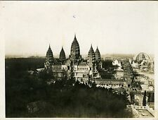 """PAVILLON d'ANGKOR VAT (INDOCHINE)"" Photo originale par YVON 1931"