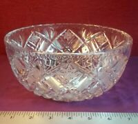 VERY HIGH QUALITY HEAVY VINTAGE BOHEMIAN CUT CRYSTAL GLASS FRUIT BOWL FABULOUS